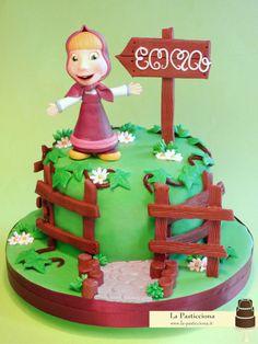 torta con Masha, dal cartone Masha e Orso