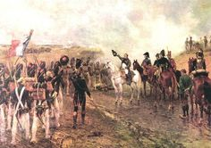 Napoleon commissioning the Guard at Waterloo - Crofts