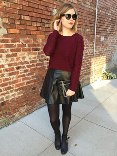 We love this faux leather skirt on our latest Chic of the Week!