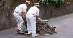 Traditional toboggan ride in Funchal