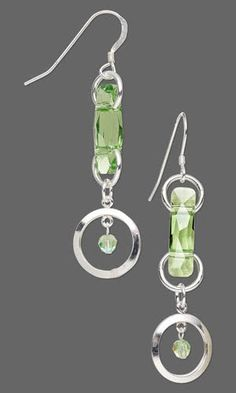 Jewelry Design - Earrings with Swarovski Crystal and Sterling Silver-Filled Drops - Fire Mountain Gems and Beads
