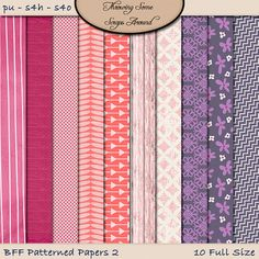Digital Scrapbooking: Paper BFF Patterned by DigitalDesignsbyJodi