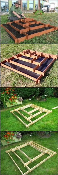 How To Make A Slot Together Pyramid Planter  theownerbuilderne...  Pyramid planters are great for growing various plants especially if you don't have a lot of space in your garden or yard.  It's very easy and cheap to make as it's made from recycled pallet timbers. All you need is an hour and a half and some basic woodworking skills. Wood Plans, How To Plan, Diy, Build Your Own, Bricolage, Do It Yourself, Diys