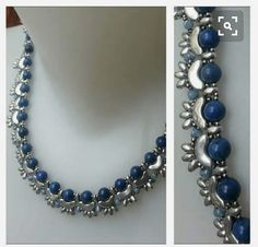 Necklace with arcos con pucas. Tutorial available.