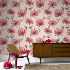 red wallpaper for your living room | Graham & Brown