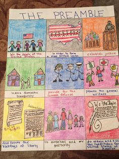 Define the Constitution's Preamble in pictures grade 7th Grade Social Studies, Social Studies Projects, Social Studies Classroom, Social Studies Activities, History Classroom, Teaching Social Studies, History Teachers, Teaching History, Classroom Objectives