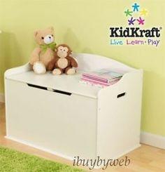 Kidkraft Kids Austin Toy Chest Box Storage Bench White