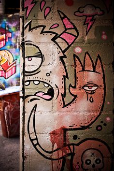 065 melbourne graffiti by Looking Glass on Flickr.