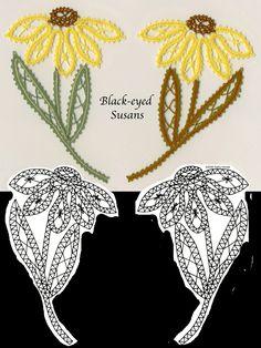 bobbin pattern - black-eyed susans