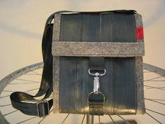 FILZ: Wissenswertes und Impressionen: Taschen aus Filz  und Fahrradschlauch