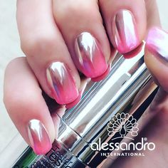 Coming soon  LIMITED EDITION !!! - only for Professionals...... Im in LOVE  #alessandrointernational #chrome #chromenails #ombre #pink #nails #nailart