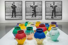 "Ai Weiwei,"" Dropping a Han Dynasty Urn,"" 1995/2009; ""Colored Vases,"" 2007-2010"