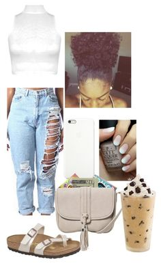 """""""carnival"""" by zarweyah ❤ liked on Polyvore featuring Candie's, WearAll, Birkenstock, Jack Spade and MANGO"""