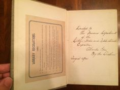 Rare 1893 book with Cotton States Expo inscription Atlanta GA by Beatrice Marean. Gift to the Women's Dept. of the Atlanta Exposition of 1895 as inscribed by the author. Part of the J. Fred Rodriguez Atlanta Collection.