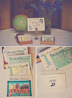 Travel wedding theme