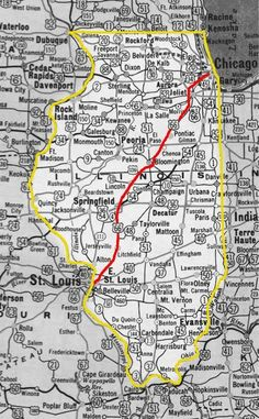 A 1956 Route 66 alignment.