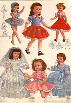 1956-57-AD-2-Page-Paris-Walker-Trousseau-Dolls-Ideal-Horsman-Saucy