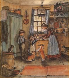 Illustration from The Tasha Tudor Cookbook: