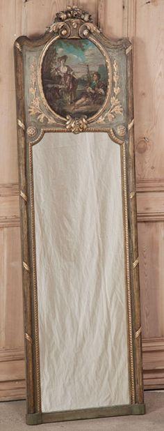 Antique Louis XVI Painted Trumeau | Antique Trumeaux | Inessa Stewart's Antiques