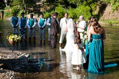 Wedding IN the Water!  What an extraordinary venue! And really pretty too!