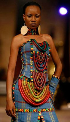Jeans dress By Nigerian designer Adegbe