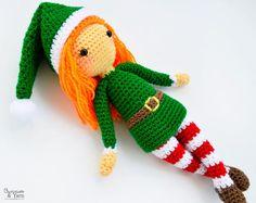 Patrón de Crochet  Edna el Duende  Muñeca Amigurumi 30 cm.