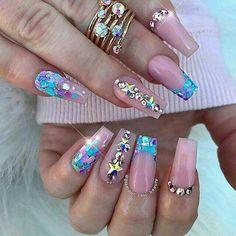 110 Mejores Imagenes De Unas Encapsuladas Encapsulated Nails Cute