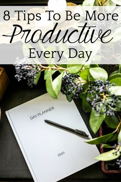 How To Be More Productive | 8 tips to streamline your day, find balance in your work and your life, and work smarter, not harder to get a lot done in less time.