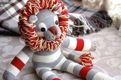 Coudre un lion à partir d'une chaussette
