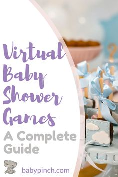 Check out this comprehensive guide to hosting Virtual Baby Shower Games for your online celebration! This is a budget fr Baby Shower Food For Boy, Baby Shower Virtual, Baby Shower Unique, Baby Shower Bingo, Baby Shower Activities, Baby Shower Parties, Baby Showers, Baby Shower Games Printable, Baby Shower Party Games
