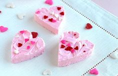 Valentine's Day 2-ingredient strawberry fudge -- super easy and sure to please all! By @Shelly Jaronsky (cookies and cups)
