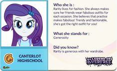 MLP EG Legend Of Everfree Rarity features by pollito15