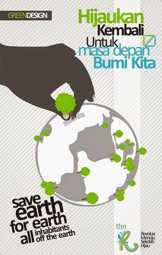 Poster lingkungan, mari menanam pohon