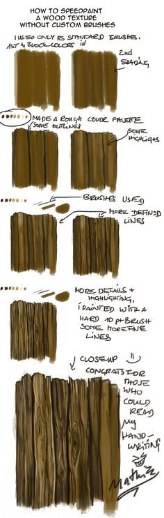New wood texture painting Ideas Digital Art Tutorial, Digital Painting Tutorials, Painting Tools, Art Tutorials, Painting & Drawing, Doodle Drawing, Texture Painting, Texture Drawing, Texture Art