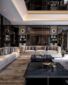 Home Design Decor, Luxury Home Decor, Luxury Interior Design, Interior Design Living Room, Living Room Designs, House Design, Design Hotel, Interior Rendering, Luxury Apartments