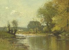 John Francis Murphy (1853-1921) | Wooded River Landscape | 19th Century, Paintings | Christie's