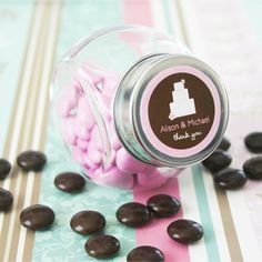 Looking for personalized wedding favors? These theme candy jars make excellent wedding favors. Wedding Favour Jars, Vintage Wedding Favors, Wedding Candy, Wedding Party Favors, Wedding Ideas, Wedding Wishes, Wedding Bells, Wedding Reception, Wedding Stuff