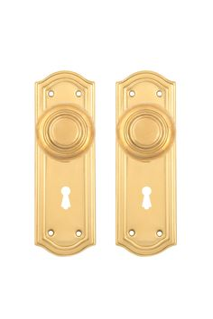 Art Deco doorknobs and back plates by CharlestonHardwareCo on Etsy