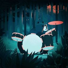 @rafa_varona writes: This is an animations I did for the Squamish Festival in Canada. It shows their corporate bear rocking hard. ⠀⠀ ⠀⠀ my review: Lovely! I very much enjoy the drummer pose the bear so clearly relishes in. But you are in a difficult space, as my absolute favorite drumming animal is still the Cadbury gorilla doing it to Phil Collins' In the air tonight. If you have not seen it, google it. ⠀⠀ ⠀⠀ ⠀⠀ If you want your project reviewed within this space, email me a square jpeg or…