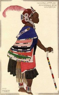 A Centenary Celebration of the Life and Work of Barbara Tyrrell will be on display at the Iziko South African National Gallery from 16 March to 8 July. Zulu Women, African Women, Moleskine, Contemporary African Art, South African Artists, African Culture, Historical Costume, Black History, Black And Brown