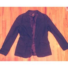 Jean material blazer women's size Medium. Dark blue jean blazer with two pockets women's size Medium. Jackets & Coats Blazers