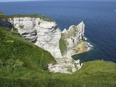 The cliffs at Etretat are part of the Alabaster coast in France.