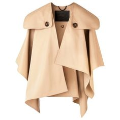 Burberry Gabardine Trench Poncho ($1,495) ❤ liked on Polyvore