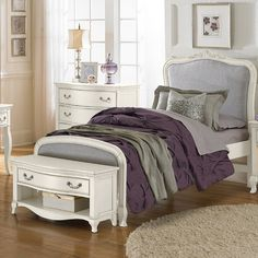 NE Kids Kensington Collection Katherine Upholstered Bed With Trundle Full  Size 30025 Kids Bedroom Furniture In A Silver Finish | Aniyah Furniture I  Would ...