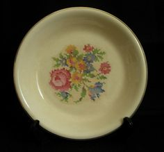 Vintage Bakerite Pie Plate. 22 kt gold rim.  I have Mama's deviled egg dish in this pattern.  It was one of her wedding gifts in 1944.