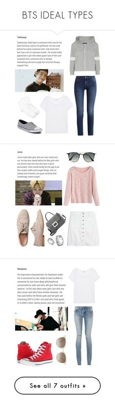 BTS IDEAL TYPES by asianfashion-j on Polyvore featuring polyvore moda style Norma Kamali Splendid Hue Calvin Klein Converse fashion clothing Madewell Gap Ray-Ban West Coast Jewelry Yves Saint Laurent Chopard Boohoo New Look Vans RE/DONE Tomas Maier River Island adidas Originals UGG Miss Selfridge Rosetta Getty J Brand Puma EAST Balenciaga WithChic