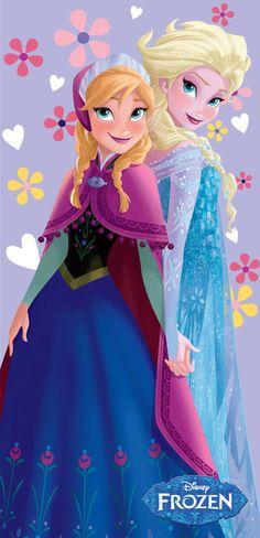Disney Frozen Anna & Elsa Kids Pool Bath Beach Towel - 28X58 FULLY LICENSED! #IslandGear