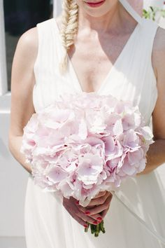 Pink hydrangea bouquet by Ibiza Wedding. Photography: Ana Lui Photography - www.analui.com  Read More: http://www.stylemepretty.com/destination-weddings/2013/12/23/amante-beach-club-wedding/