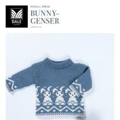 Lerke-nytt til baby & kids – Dale Garn Baby Kids, Baby Boy, Baby Knitting, Knit Crochet, Bunny, Rompers, Boys, Sweaters, Fashion