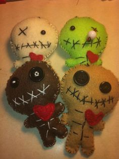 Zombie felt plushies - inspiration only